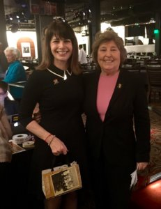 Author Angie Klink with Molly Murphy MacGregor, Co-Founder and Director of the National Women's History Project (NWHP).